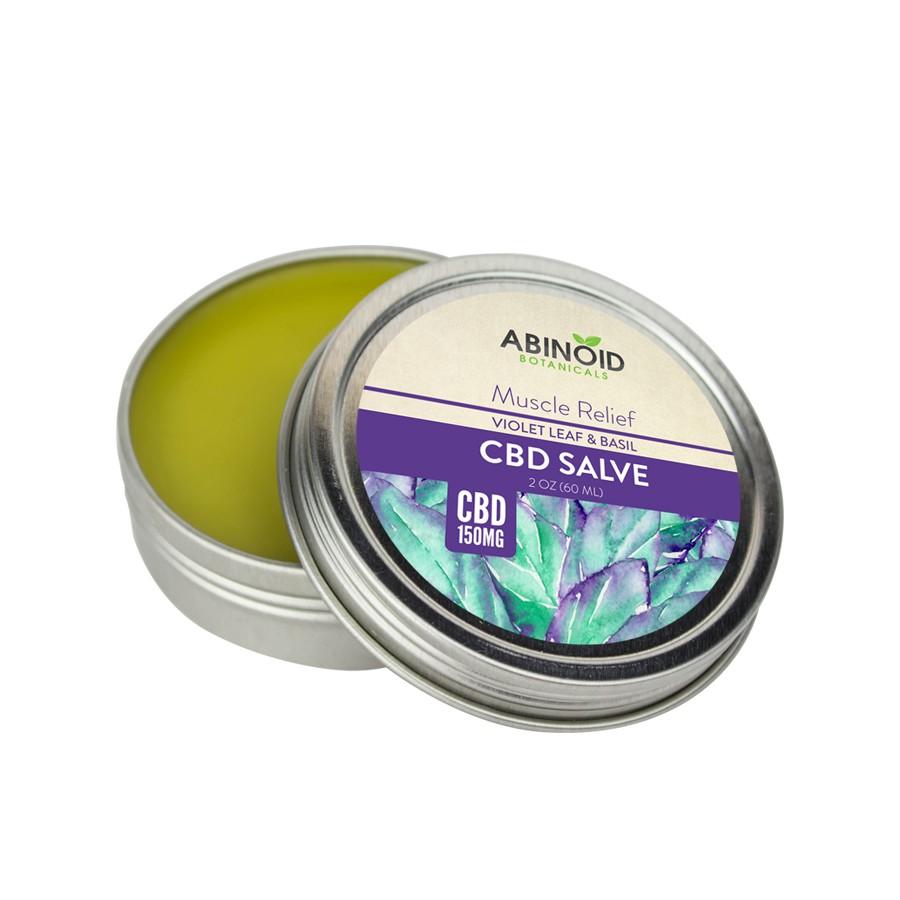 Abinoid Botanicals – Hemp Salve 2oz 150mg CBD ( Violet Leaf & Basil)