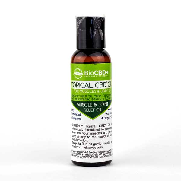 BioCBD+ CBD Topical Oil for Muscle & Joint Relief 2oz (64mg CBD)